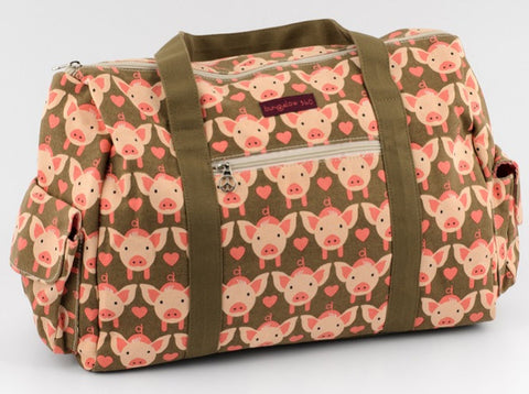 Bungalow360 Canvas Vegan Gym Bag (pig)