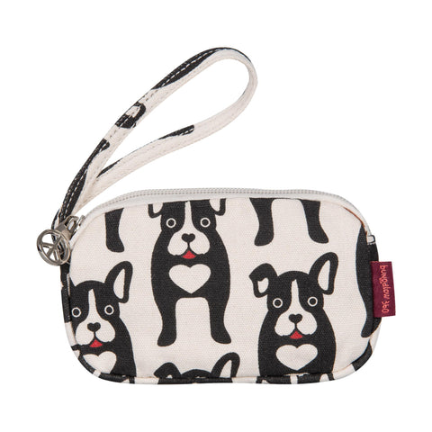 Bungalow360 Vegan Clutch Purse (black dog)