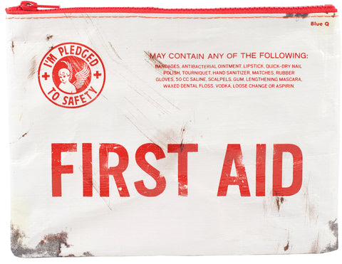 "Blue Q Zipper Pouch (""First Aid"")"