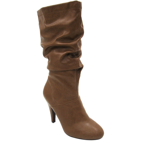 Delicious Record-S Classic Vegan Slouch Boots (tan)