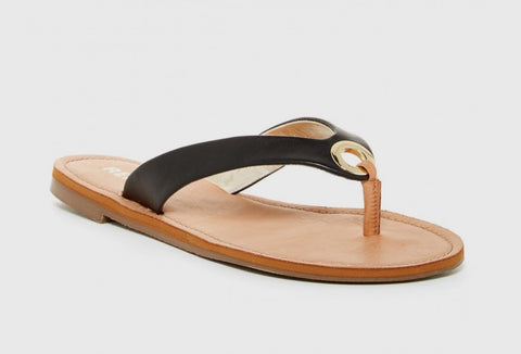 Sadey Sandal in Black Vegan Leather. Report Footwear. Size 9.
