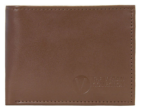 The Vegan Collection - Men's Bi-Fold Coin Wallet - Jeffrey (Brown)