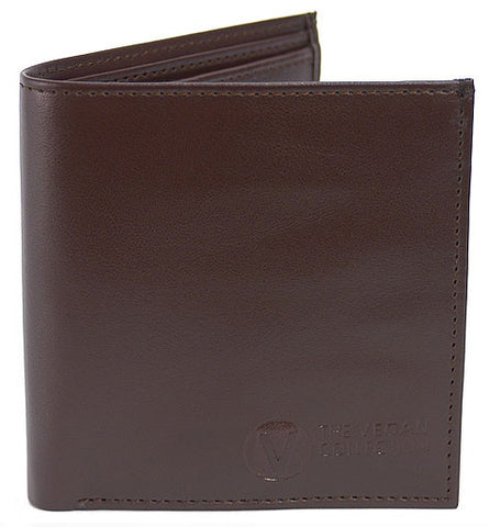 The Vegan Collection Men's Bi-Fold Wallet (brown) - Traveler