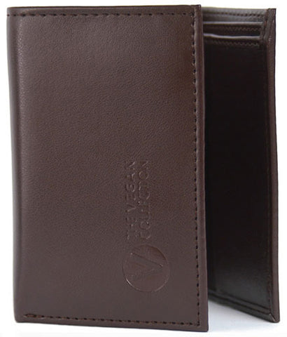 The Vegan Collection Men's Armstrong Tri-Fold Wallet (brown)