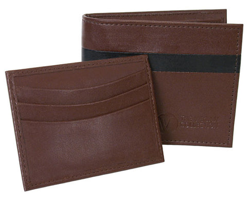 The Vegan Collection Men's Garnett Bi-Fold Wallet (brown)