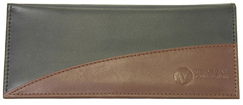 THE VEGAN COLLECTION - THE KATHLEEN - WOMEN'S CLUTCH WALLET (Brown and Black)