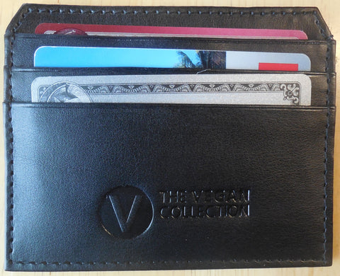 THE VEGAN COLLECTION - THE WALKER - POCKET CARD HOLDER - BLACK