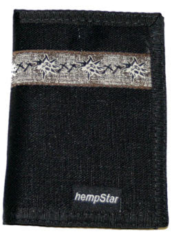 Hempstar Men's Vegan Wallet (wheat black)