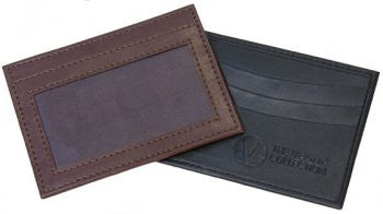 THE VEGAN COLLECTION - THE CARTER CARD HOLDER - VEGAN LEATHER BROWN