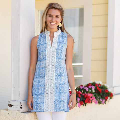 Copy of Christina Blue Sleeveless Tunic by RockFlowerPaper Size Small