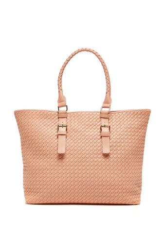 Shiraleah - Lola Tote Bag in VEGAN Leather - Nude/Natural Color