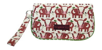 Bungalow360 VEGAN Wristlet in Cotton Canvas 51118-COW