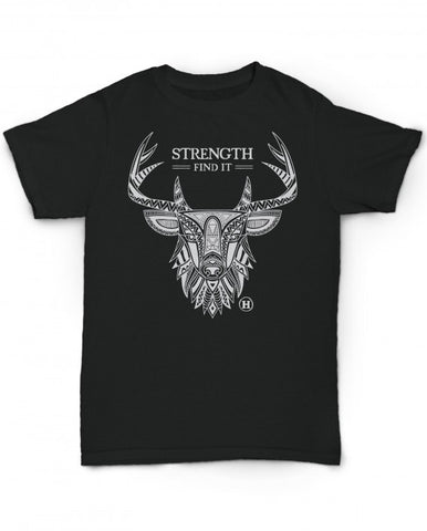 Hemp T Shirt Totem Series Deer Strength made in U.S.A. by Hempy's. Size Large.