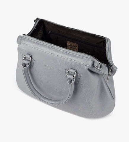 Matt and Nat Malone Dwell Doctor's Style Satchel Handbag. Vegan Leather. Storm Color.
