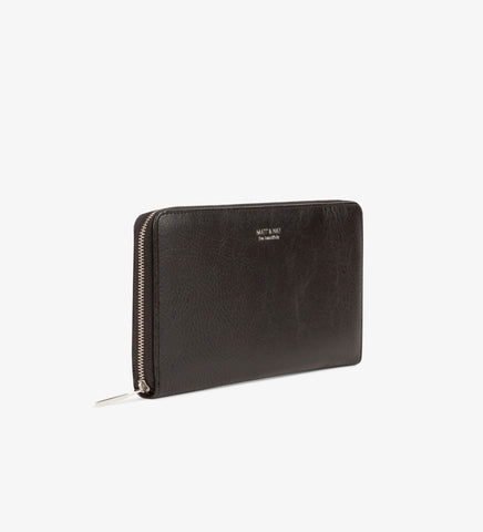 Matt and Nat Triplet Dwell Collection Wallet. Stylish Vegan Leather in Black.