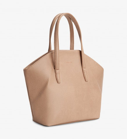 Matt and Nat Baxter Dwell Tote Bag in Vegan Leather Macaroon Pink Color
