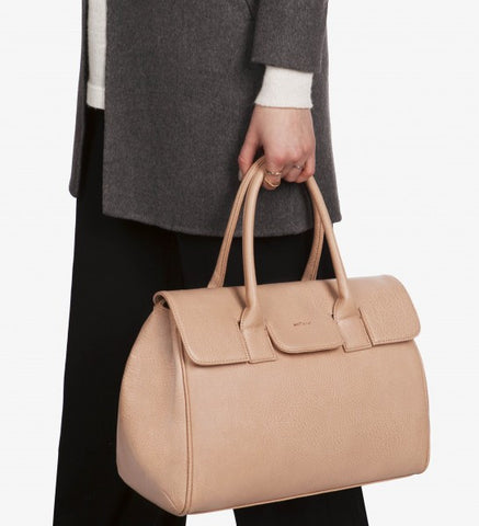 Matt and Nat Clarke Satchel Bag in Macaroon Colored Vegan Leather