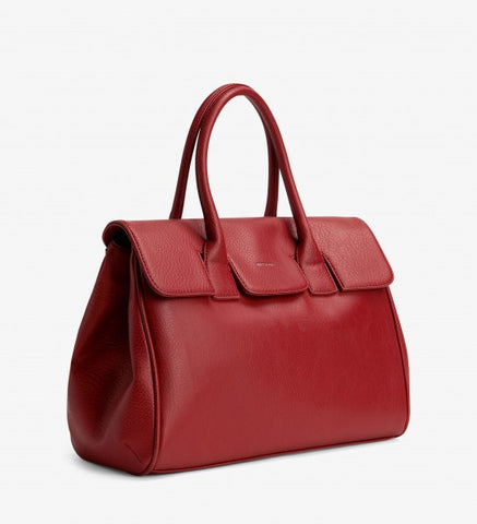 Matt and Nat Clarke Satchel Bag in Bordeaux Red Vegan Leather