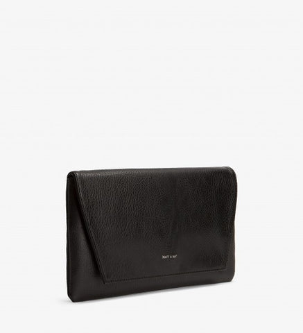 Matt and Nat Daisy Clutch in Black Colored Vegan Leather