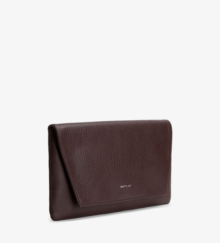 Matt and Nat Daisy Clutch in Cocoa Brown Colored Vegan Leather