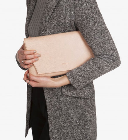 Matt and Nat Daisy Clutch in Macaroon Colored Vegan Leather