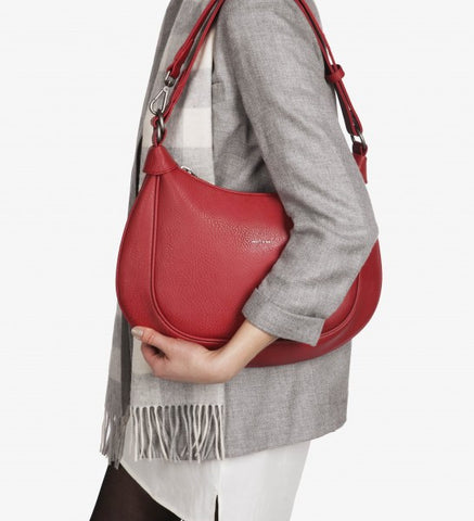 Matt and Nat Libre Hobo/Shoulder/Cross-body Bag in Vegan Bordeaux Red Leather.