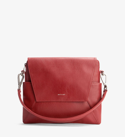Matt and Nat Minka Hobo/Shoulder Bag. Bordeaux Red Vegan Leather.