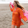 Fronds Orange Beach Tunic by RockFlowerPaper Size Small