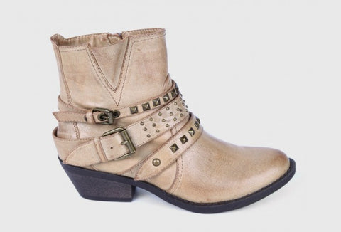 Report Footwear - Kolton - Ankle-Boots in Stone Color Vegan Leather