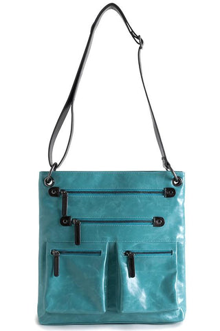 Shiraleah Harper Vegan Cross-Body Bag in Vibrant Aqua