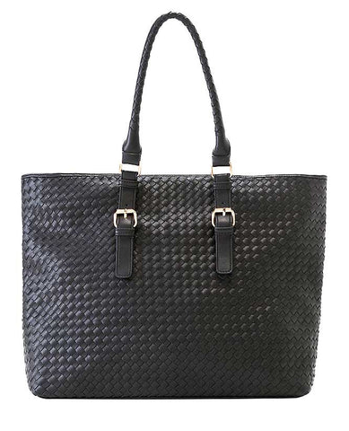 Shiraleah Lola Tote Bag in Black Vegan Leather
