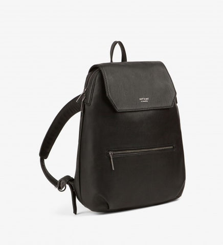 Matt and Nat Peltola Loom Collection Backpack in Black Vegan Leather