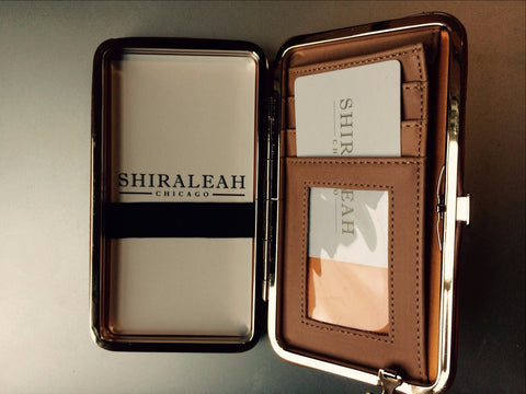 Shiraleah - Vegan Kim Phone Wristlet Wallet in Caramel Color Vegan Leather