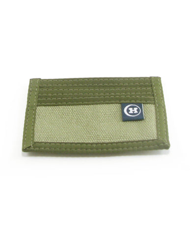 Hemp Minimizer Wallet Green with Green Trim made in U.S.A. by Hempy's