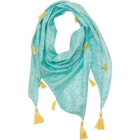 Ronda Ocean Triangle Scarf Cotton by RockFlowerPaper