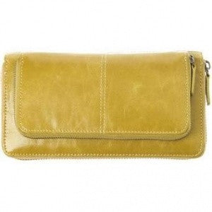 Shiraleah Harper Vegan Zip Wallet in Mustard