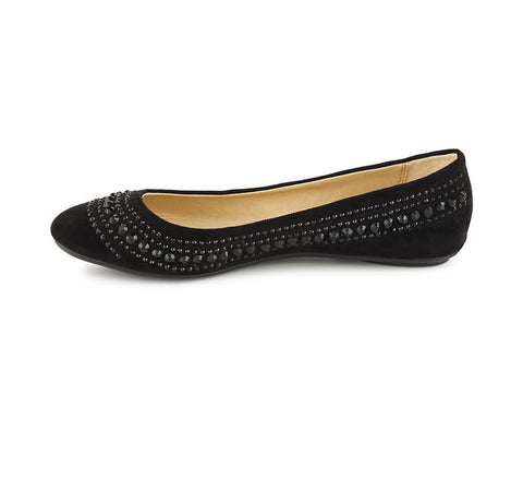CL by Laundry Hillary Women's Shoe. Ballet inspired. Vegan Friendly Black Suede. Size 8.5