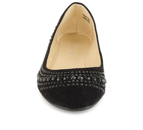 CL by Laundry Hillary Women's Shoe. Ballet inspired. Vegan Friendly Black Suede. Size 6.5