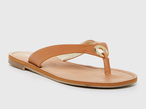 Report Footwear - Sadey Sandal in Tan Vegan Leather.  Size 10.
