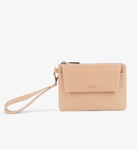 Matt and Nat - Vintage Wallet in Vegan Leather - Large in Natural/Ecru Color