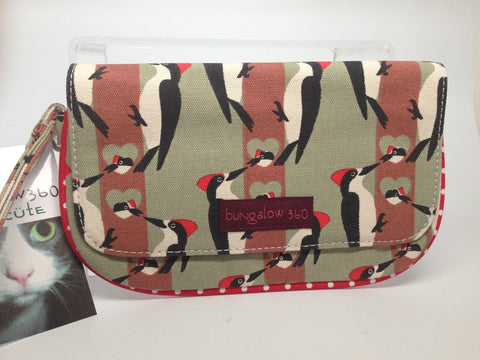 Bungalow360 VEGAN Wristlet - Cotton Canvas - Woodpecker 51118-WP