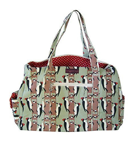 Bungalow360 Canvas Vegan Gym Bag (Woodpecker)