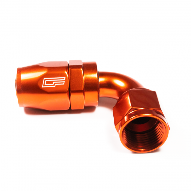 90 Degree Female AN Aluminum Hose End | -4AN | -6AN | -8AN | -10AN | -12AN | -16AN | -20AN