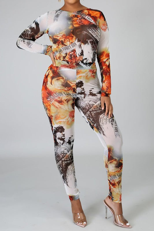 Multi Print Legging Set