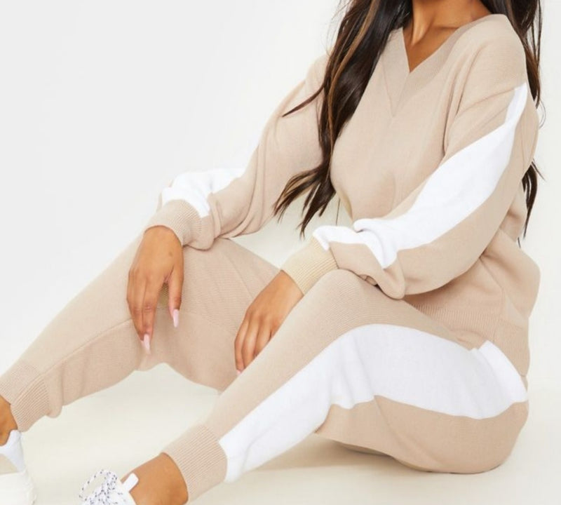 Contrast Stripe Lounge Set