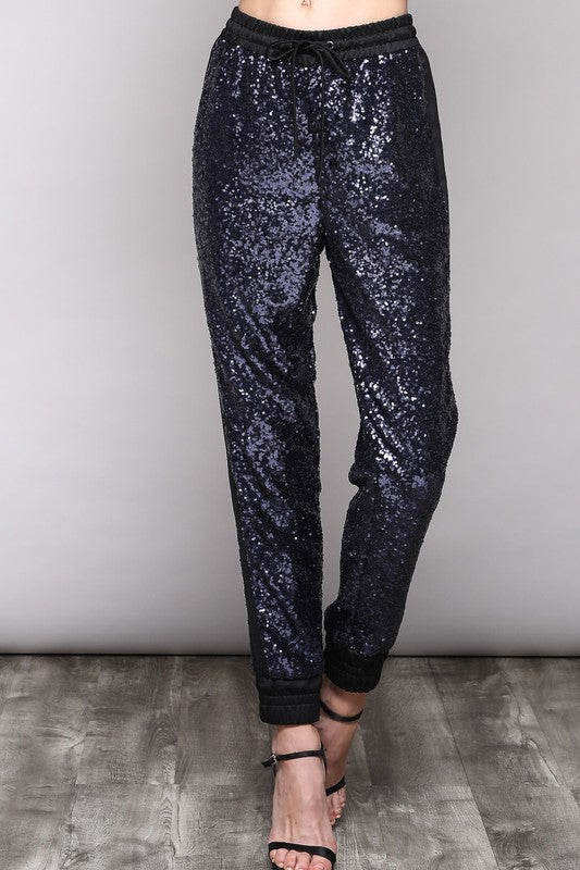 Sequin Disco Jogger Pants