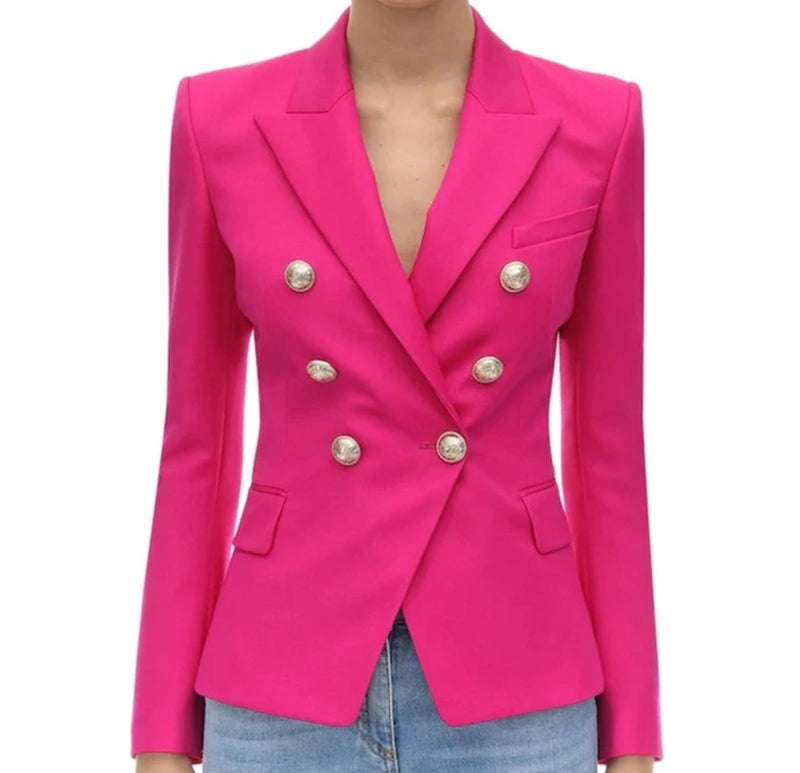 Double Breasted Button Blazer