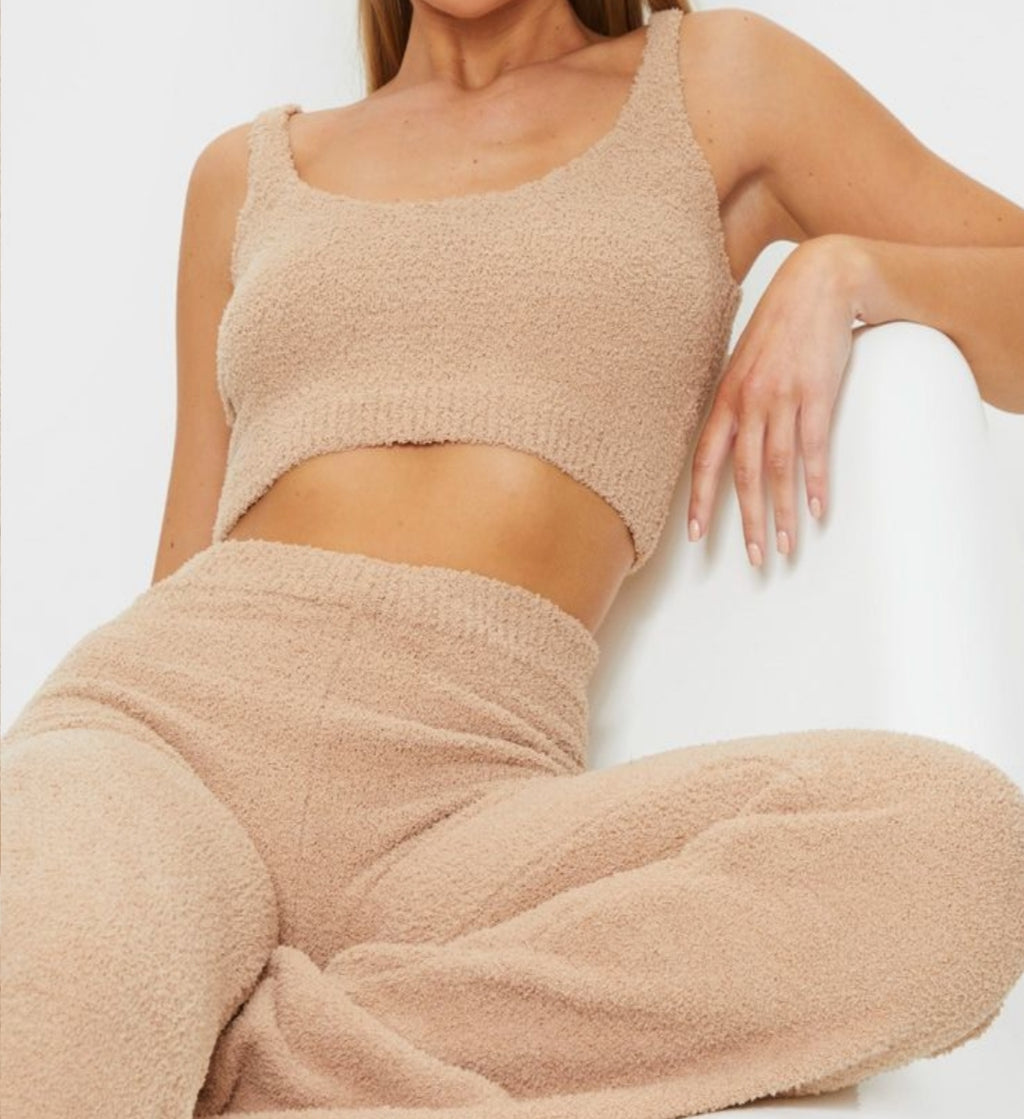 Fuzzy 3 Piece Lounge Set