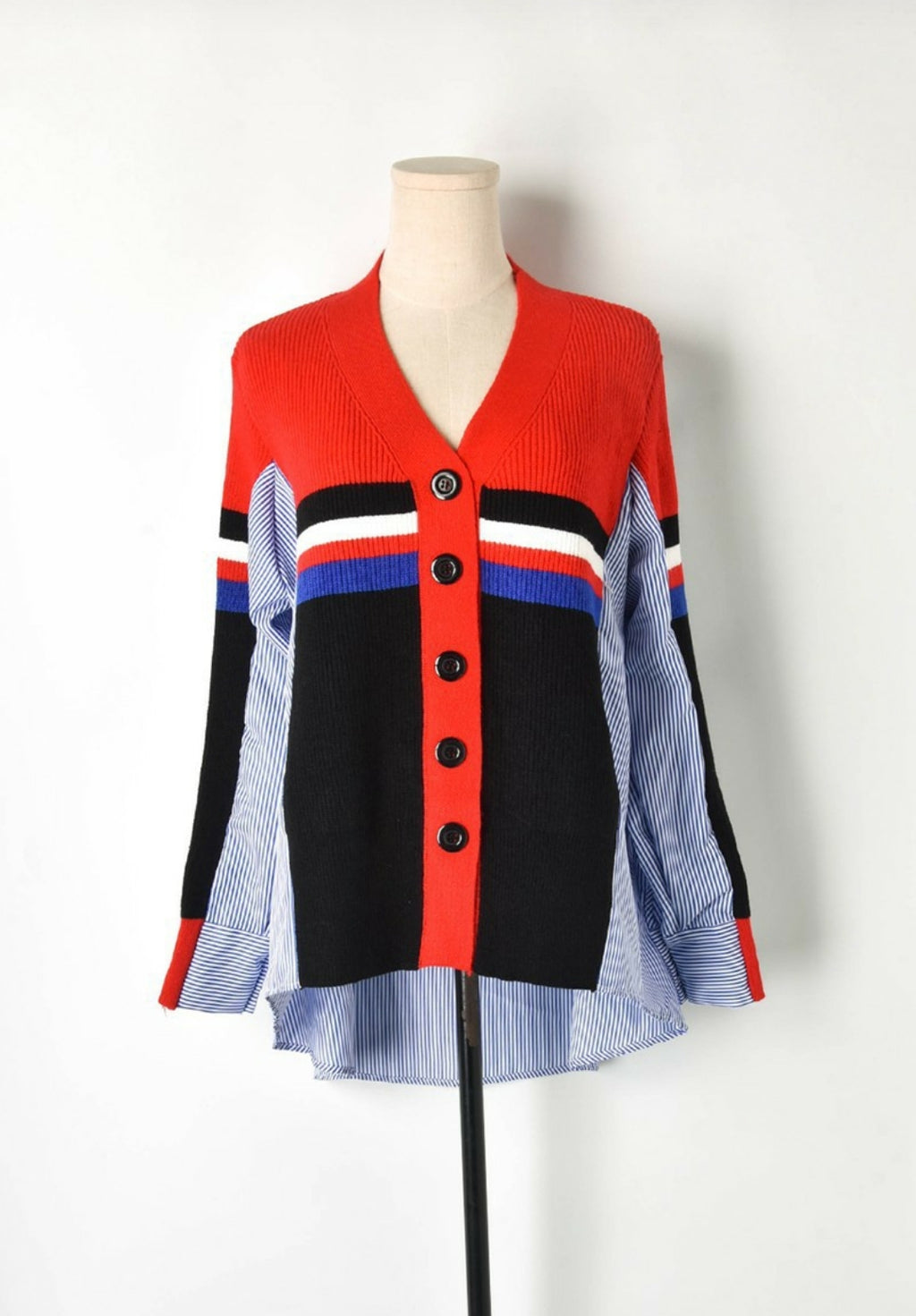 Cardigan Front Shirt Back Top