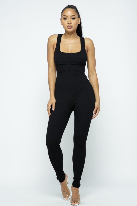 Bodycon Scoop Neck Jumpsuit